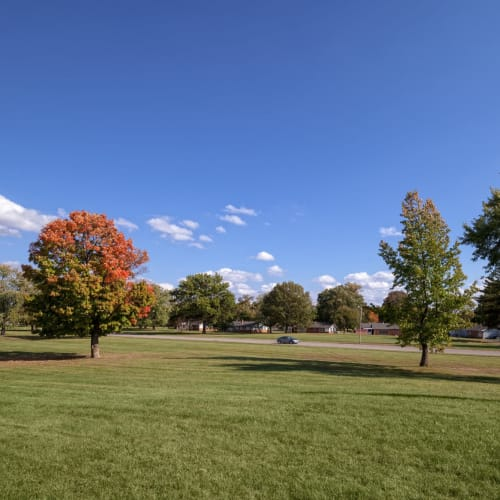 Field in front of Steeplechase Village in Columbus, Ohio