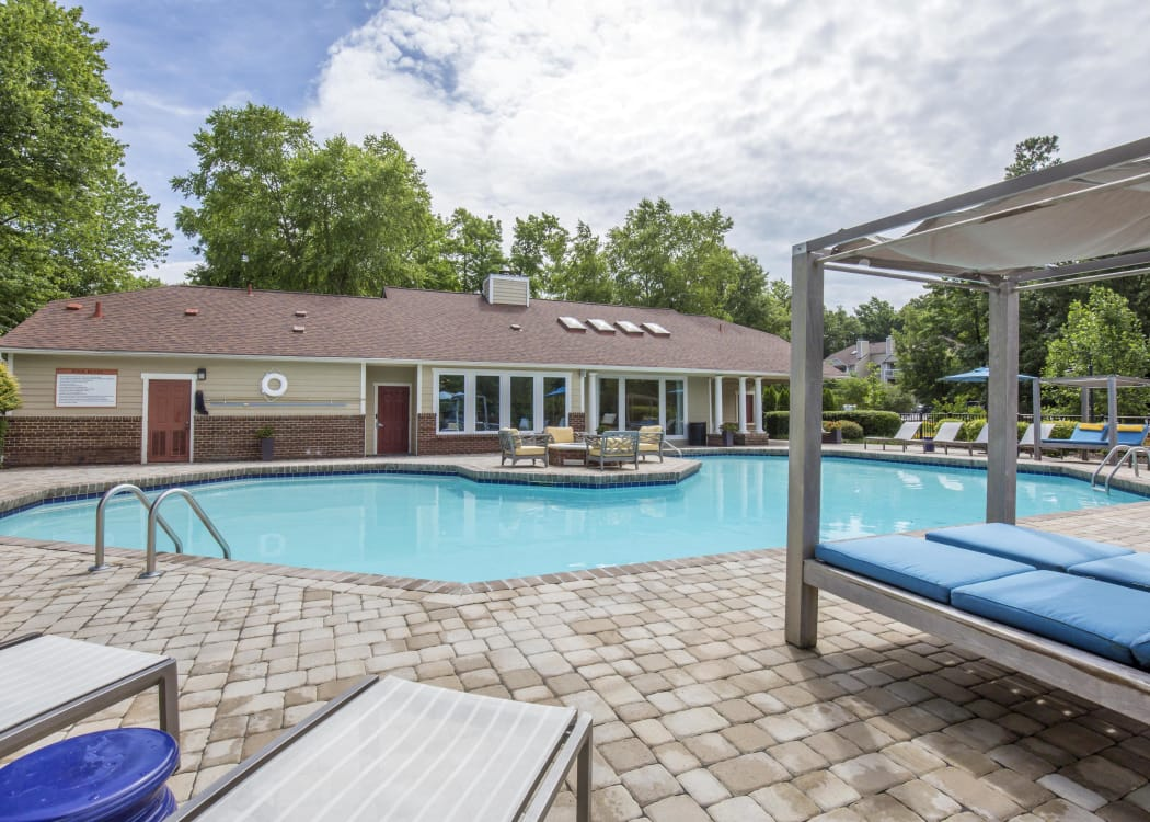 Enjoy a refreshing swimming pool at Copper Mill Apartments in Richmond, Virginia