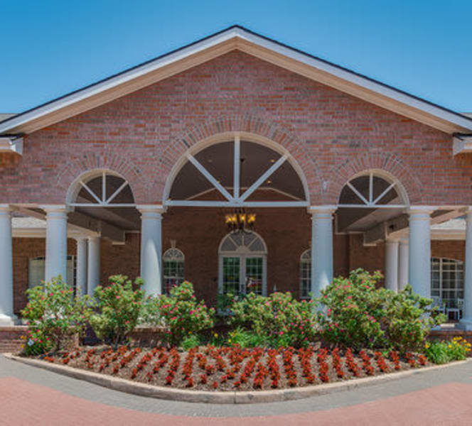 The front of the building at Town Village in Oklahoma City, Oklahoma