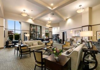 Beautiful lounge of Kirkland senior living