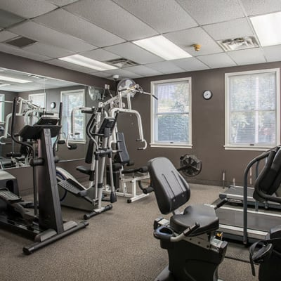 Fitness center at Perinton Manor Apartments in Fairport, New York
