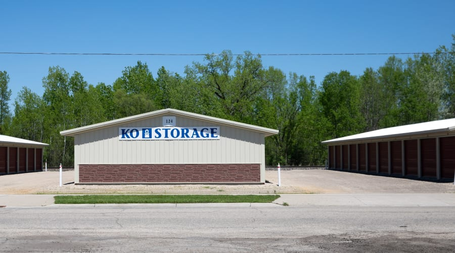 Exterior of several buildings with outdoor units at KO Storage of Tomah - Washington in Tomah, Wisconsin
