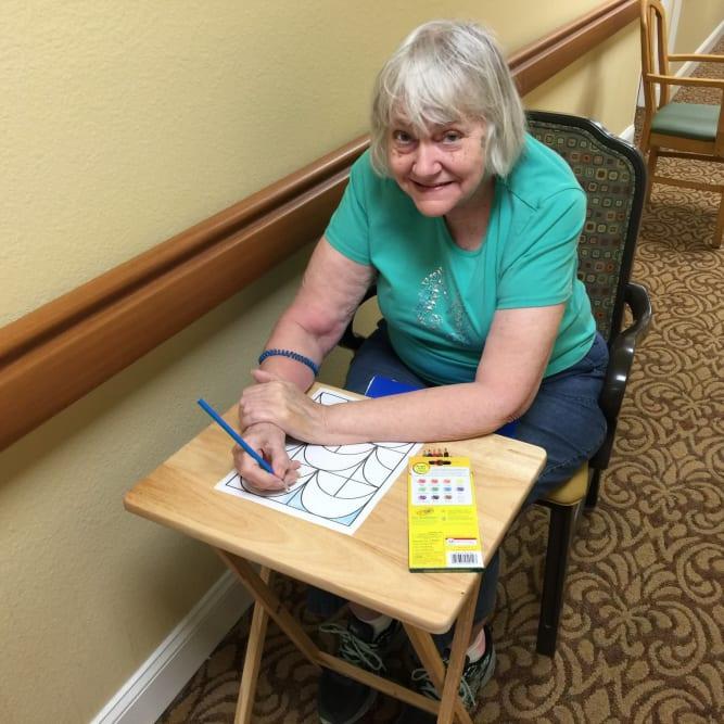 Healthy resident at Grand Villa of Altamonte Springs in Altamonte Springs, Florida