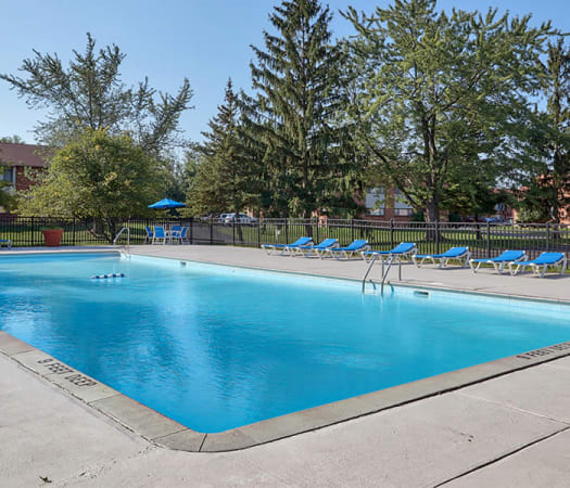 Swimming pool at Webster Manor Apartments in Webster, New York
