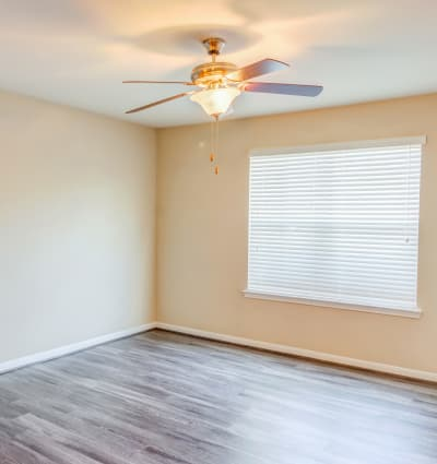 Hardwood flooring in model home at Kenwood Club at the Park in Katy, Texas