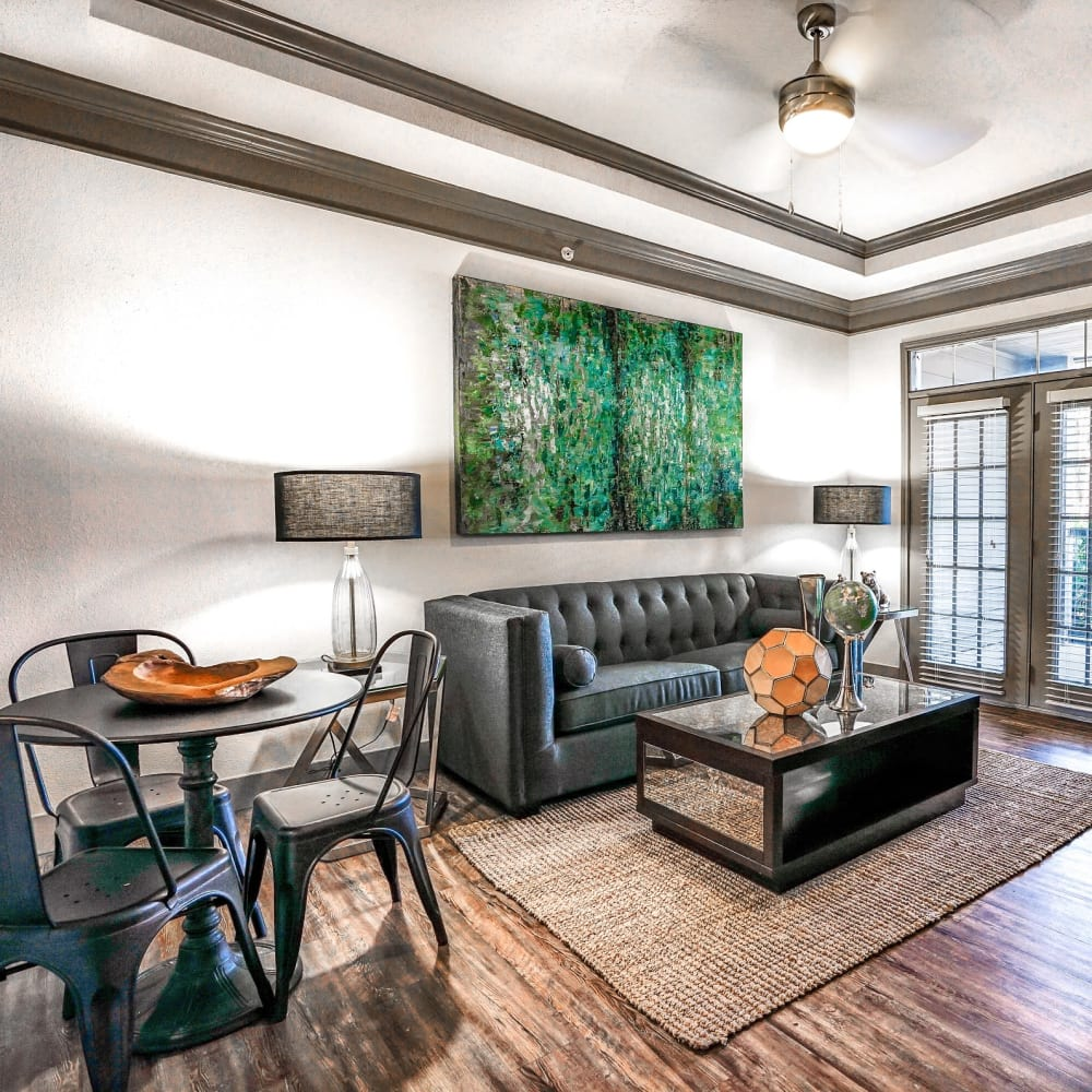 Luxurious resident clubhouse interior at Beck at Wells Branch in Austin, Texas