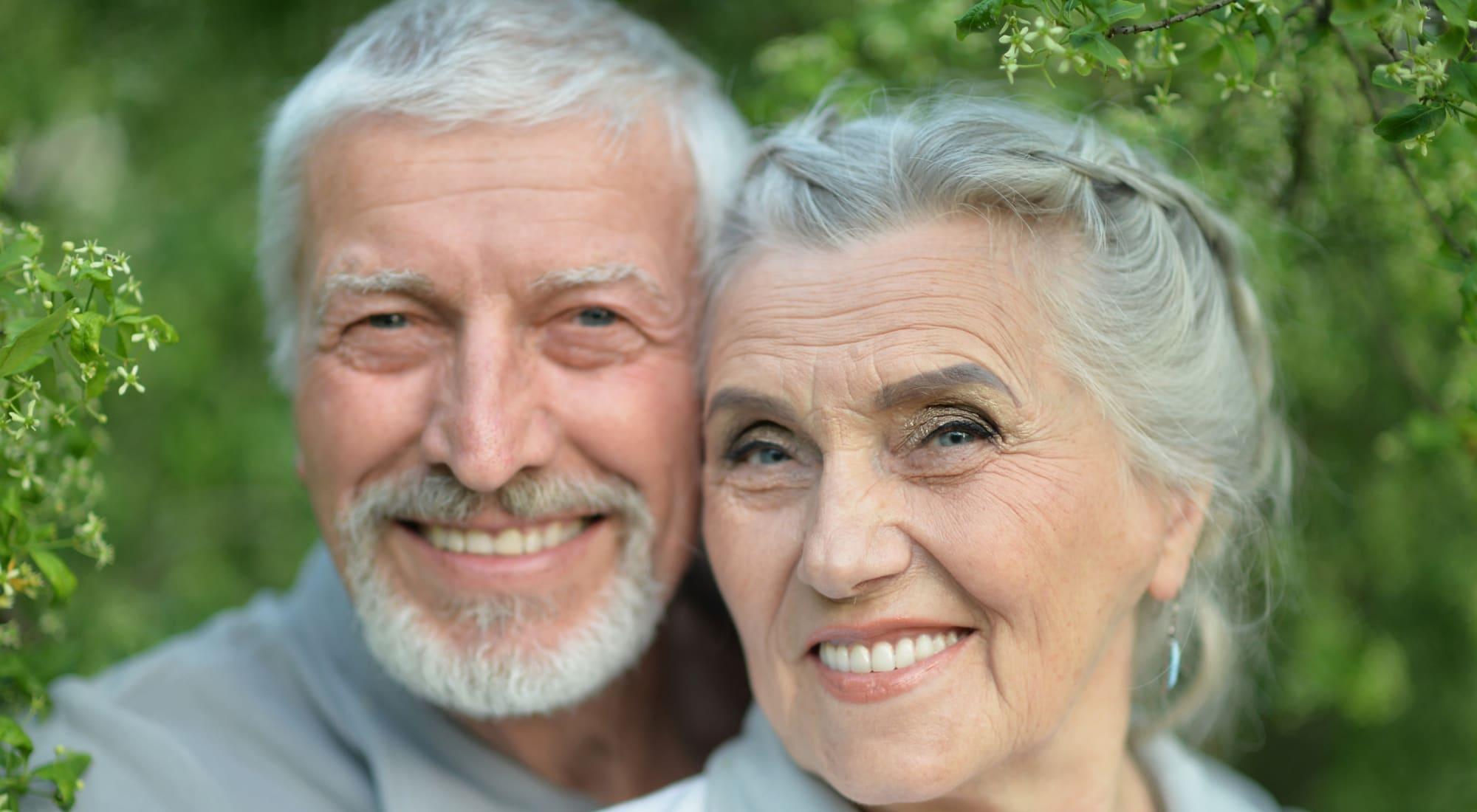 Happy resident couple at Maple Ridge Senior Living