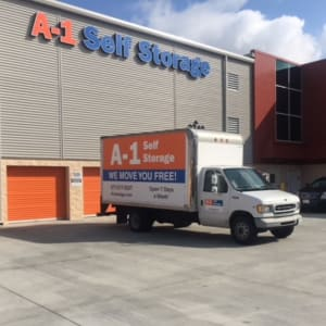 Moving truck for customers of A-1 Self Storage in San Diego, California