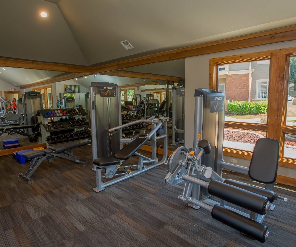 Private fitness center at Sheridan Pond in Tulsa, Oklahoma