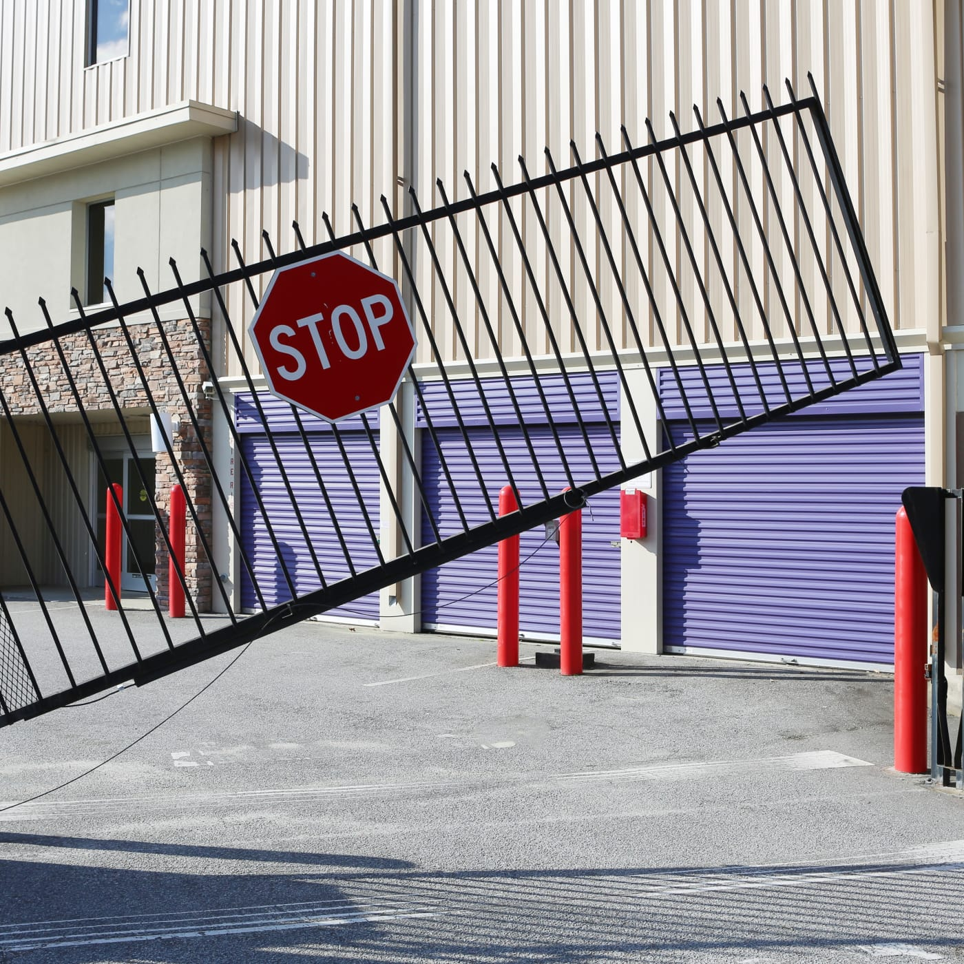 Gated entrance to StoreSmart Self-Storage in Columbia, South Carolina
