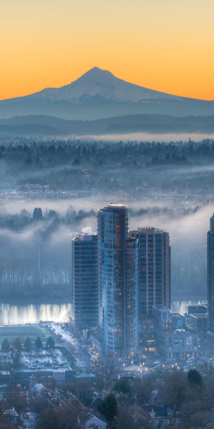 Neighborhood of Marquam Heights in Portland, Oregon