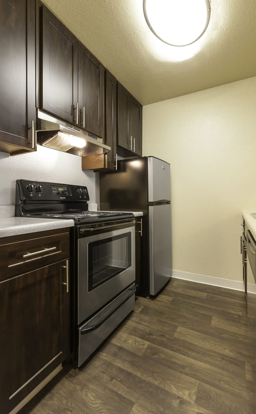The Timbers Apartments offers a fully equipped kitchen in Hayward, CA