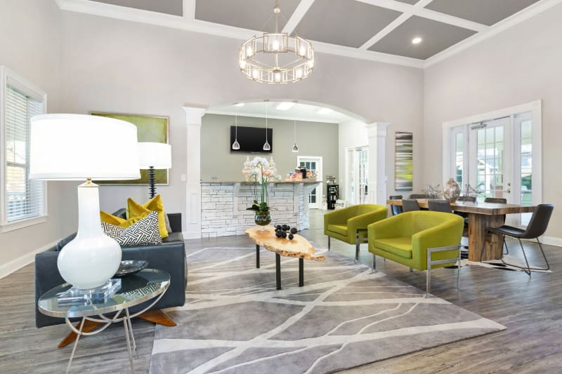 Clubhouse area with tons of space for residents to relax and hang out at Belle Vista Apartment Homes in Lithonia, Georgia