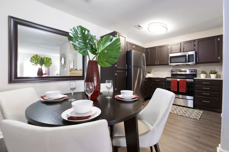 Beautiful Dinning room ready for residents to have a nice meal in at Ascend @ 1801 in Charlotte, North Carolina
