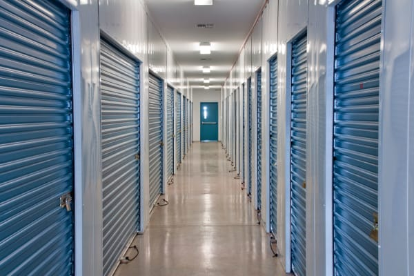 Indoor storage units at Box Self Storage in Junction City, Kansas