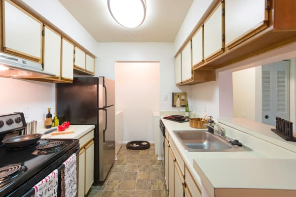 Model kitchen at Hunter's Chase Apartments