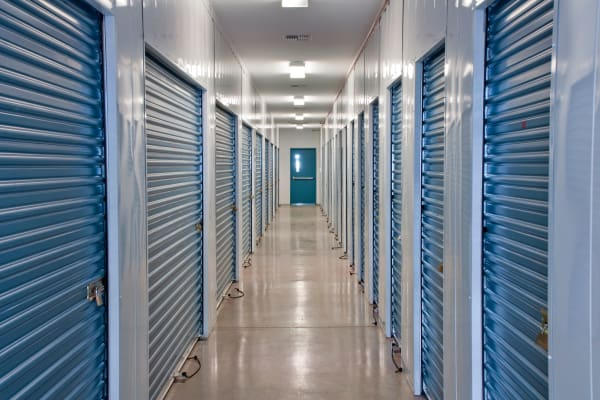 Interior storage units at Ace Affordable Storage in Sherman, Texas