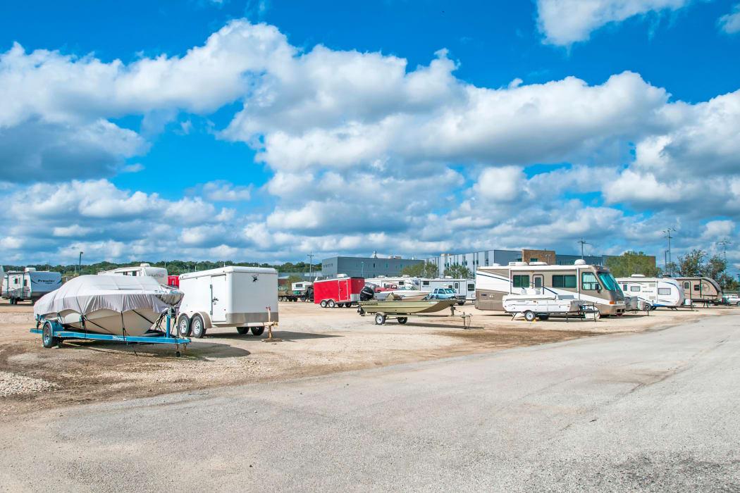 Boat and RV parking at Lockaway Storage in San Antonio, Texas