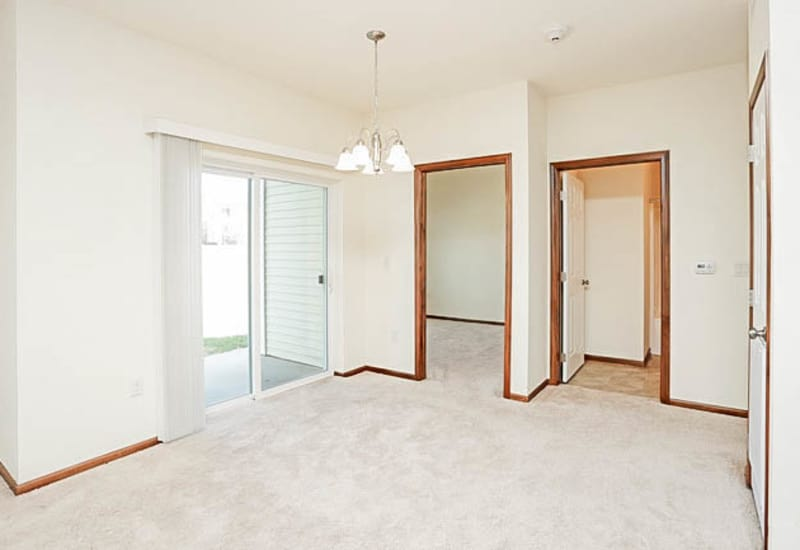 Spacious master bedroom at Johnston Heights in Johnston, Iowa