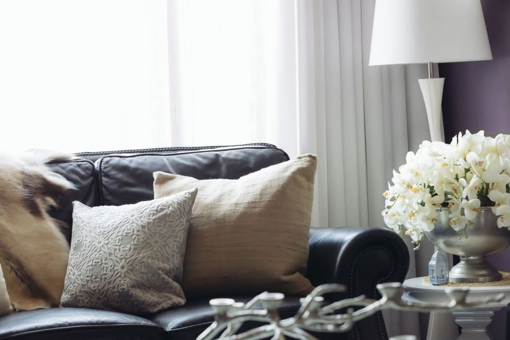 Comfy couch at City Center Apartments in Las Vegas, Nevada