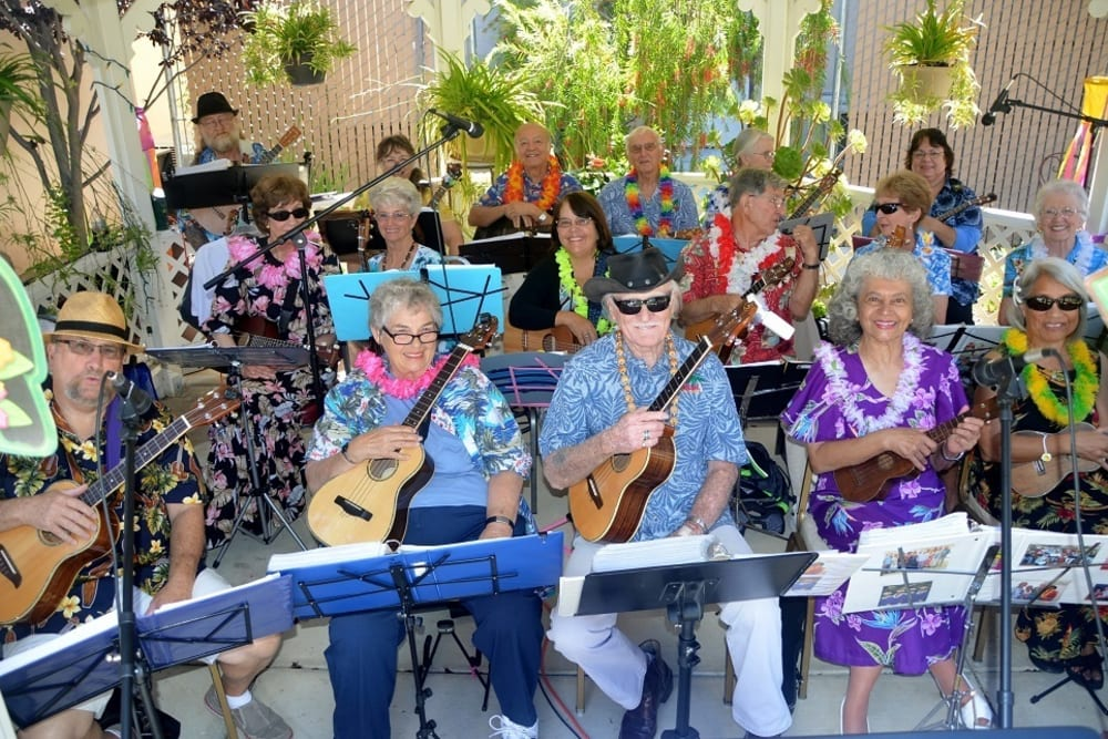 The band at Merrill Gardens at Santa Maria in Santa Maria, California.