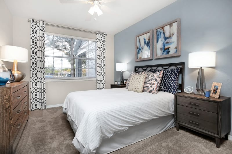 Model bedroom at The Aspect in Kissimmee, Florida