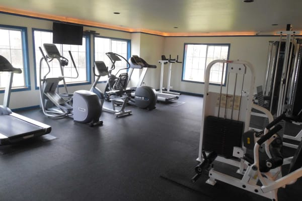 Fitness center at Conifer Place Apartments in Corvallis, OR