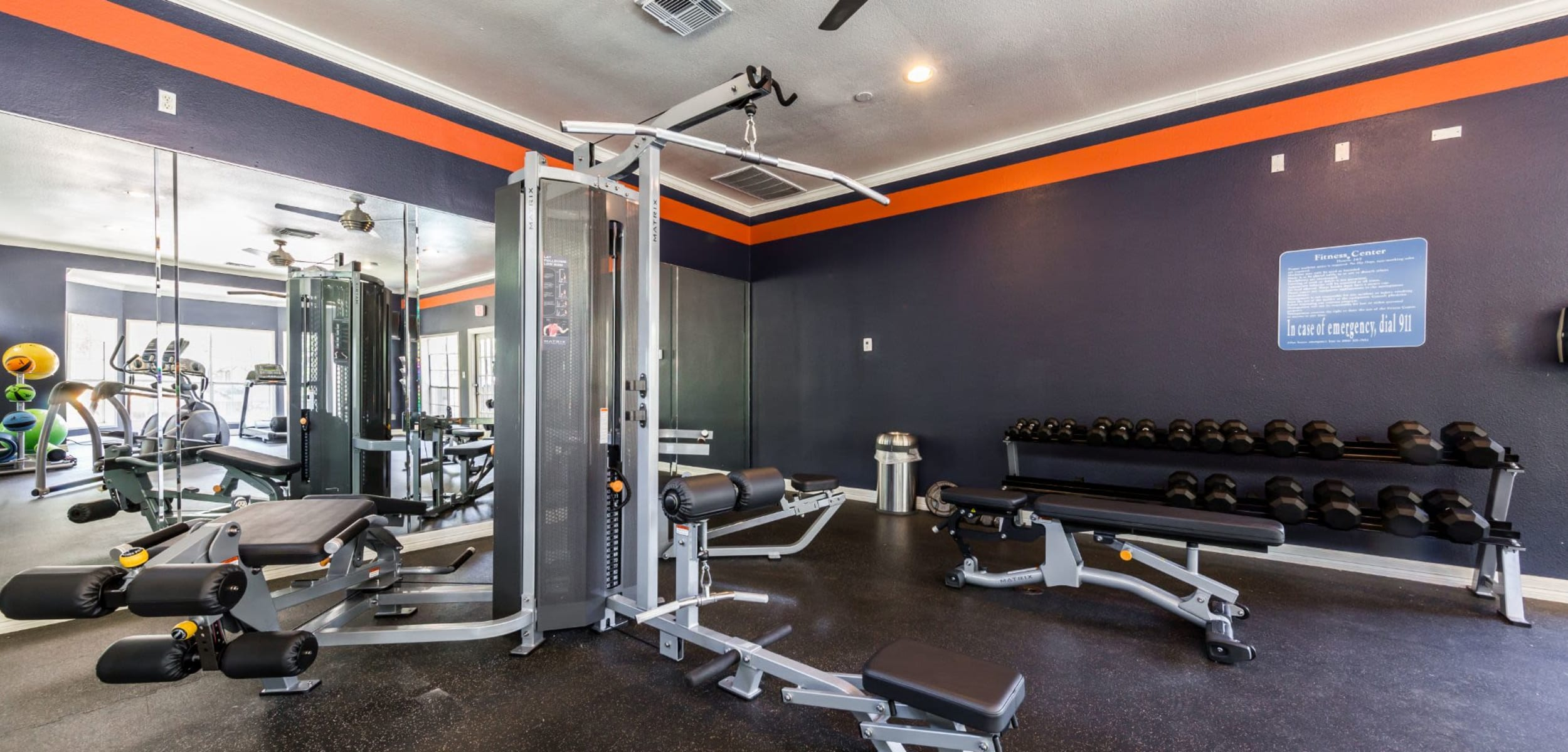 Fitness center at Marquis at Deerfield in San Antonio, Texas