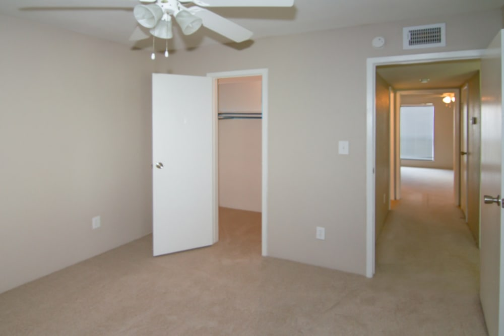 Bedroom at Meadow Park Apartments in Alvin, Texas