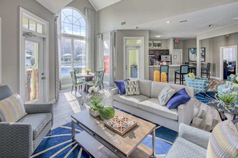 Clubhouse with amenities poolside at The Madison in Charlotte, North Carolina