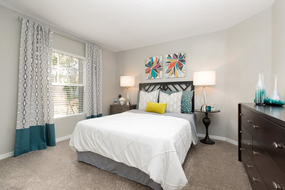 Spacious light bedroom at The Avenue in Ocoee, Florida