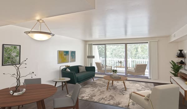 Open floor plans at The Cascades Townhomes and Apartments