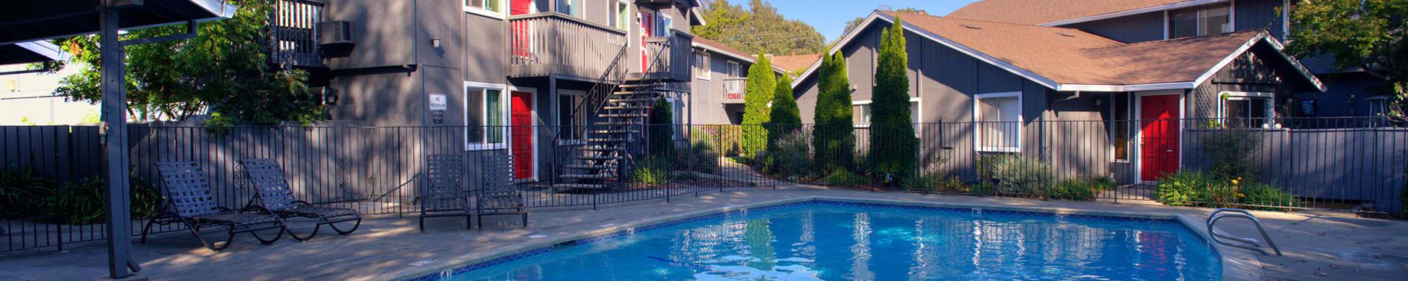 Community map at Azure Apartment Homes in Petaluma, California