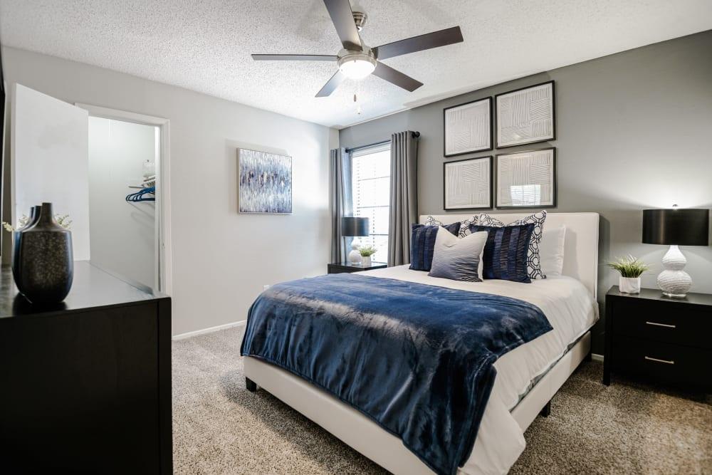 Spacious main bedroom at The Regent in Dallas, Texas