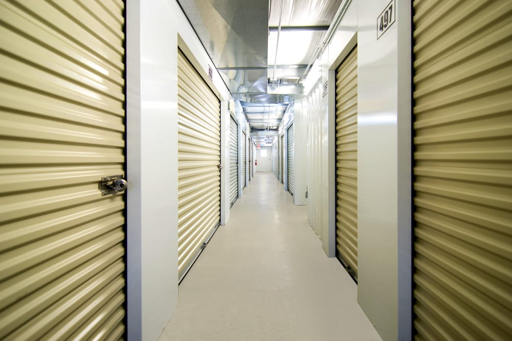 Interior units at Prime Storage in Broadview Heights, Ohio