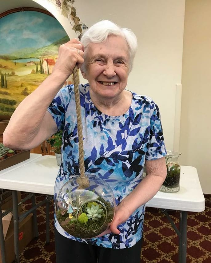 Gardening at HeatherWood Assisted Living & Memory Care