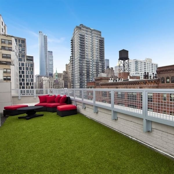 Roof-style lounge with a view at 210-220 E. 22nd Street in New York, New York