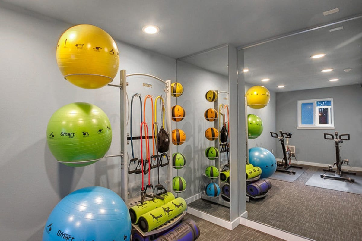 Fitness center at Union 18 in Seattle, Washington