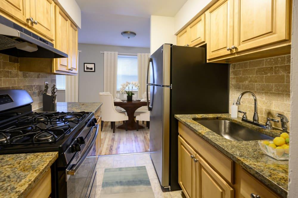 Kitchen appliances at State Gardens in Hackensack, New Jersey