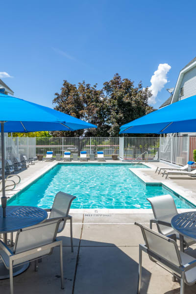 Swimming pool at Windgate Apartments in Bountiful, Utah