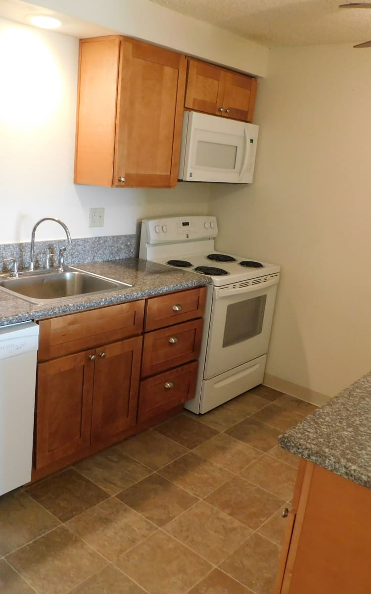 Well Equipped Kitchen at Kings Court in Springfield, OR