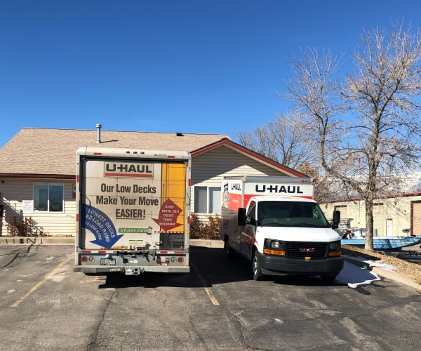 UHaul trucks for rent at South Bank Secure Storage in Rifle, Colorado