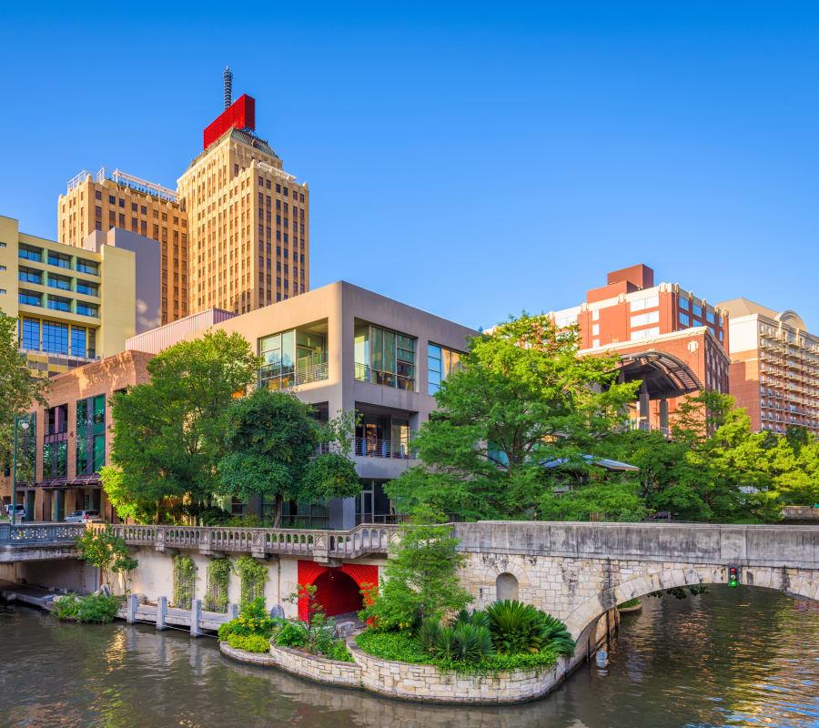 View of downtown near Rosemont at Olmos Park in San Antonio, Texas