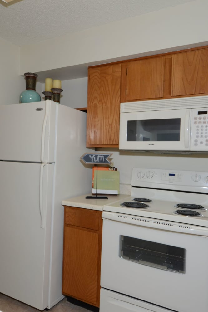 Bright kitchen at Newport Apartments in Amarillo, Texas
