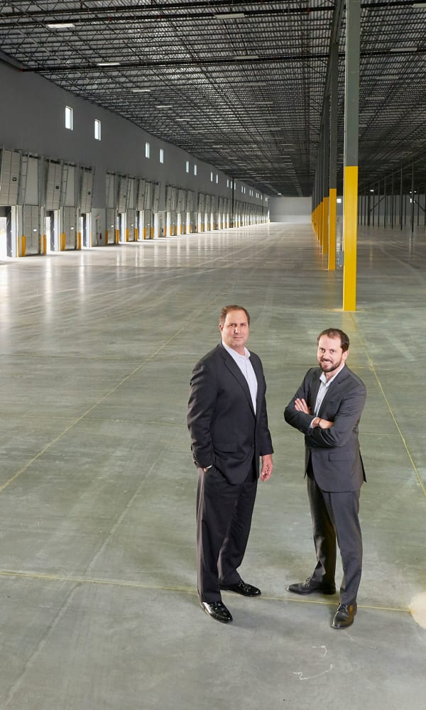 Paul Loosmann and Neil Klein at Alpha Industrial Properties in Chicago, Illinois