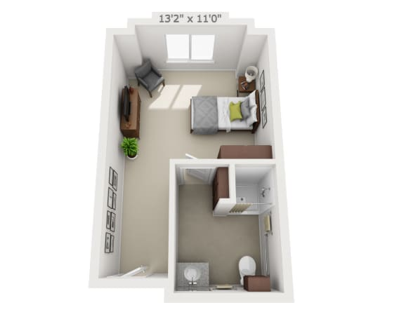 Studio Floor plans at Pine Grove Crossing in Parker, Colorado