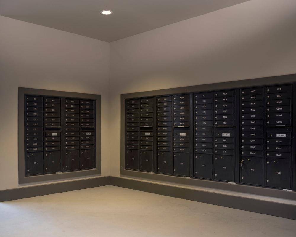 Resident mailboxes at Savannah Oaks in San Antonio, Texas.