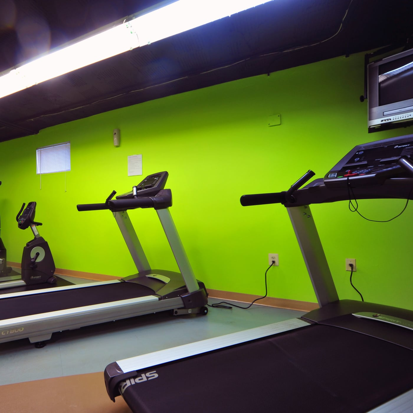 Renovated fitness center at Montgomery Arms Apartments