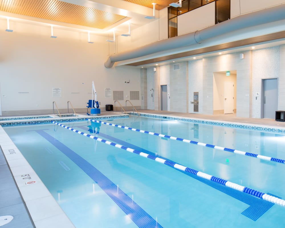 The fitness club pool at Touchmark at Fairway Village in Vancouver, Washington