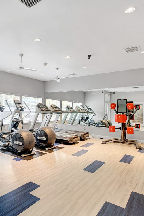 Superb fitness center at Pebble Cove Apartments in Renton